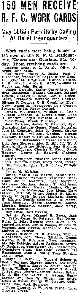 Louis Stoltz receives work relief, El Paso Herald Post, April 13, 1933