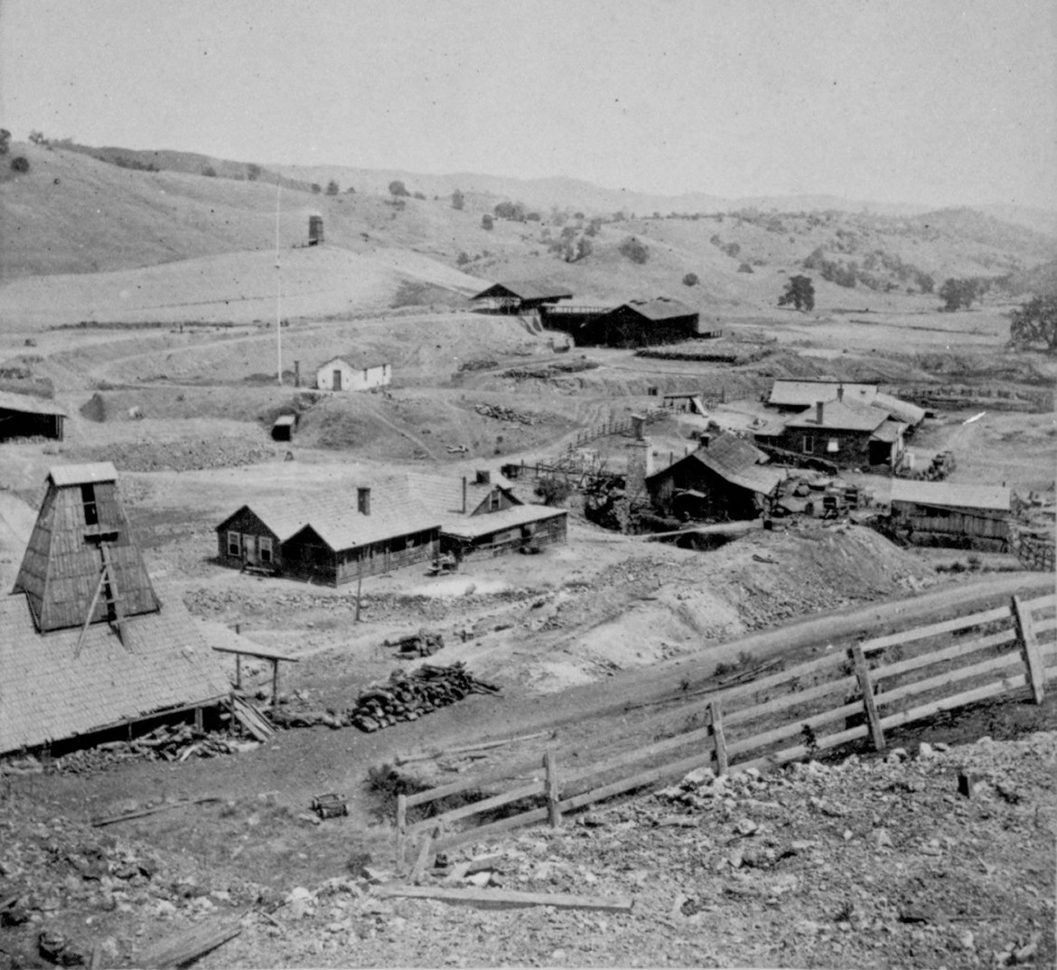 1870 Redington Mine G.J. Brayton-Stereoview