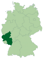 Location of Rheinland-Pfalz in modern Germany