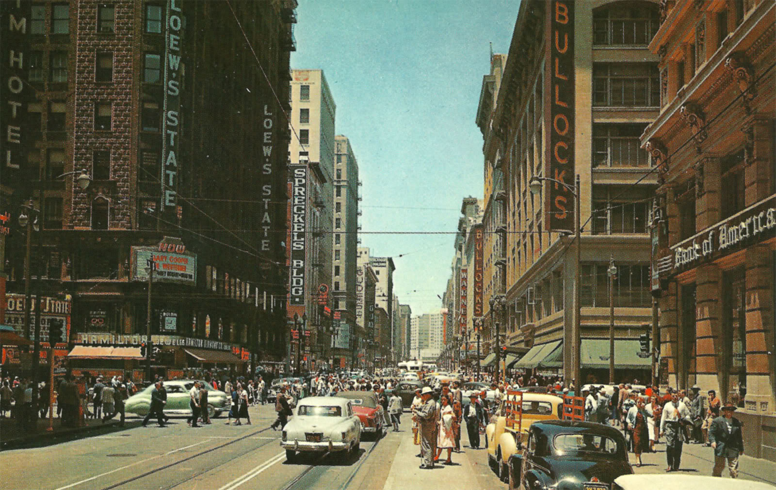 Seventh and Broadway, 1950s