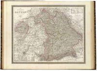 Kingdom of Bavaria, 1856, showing non-contiguous Pfalz