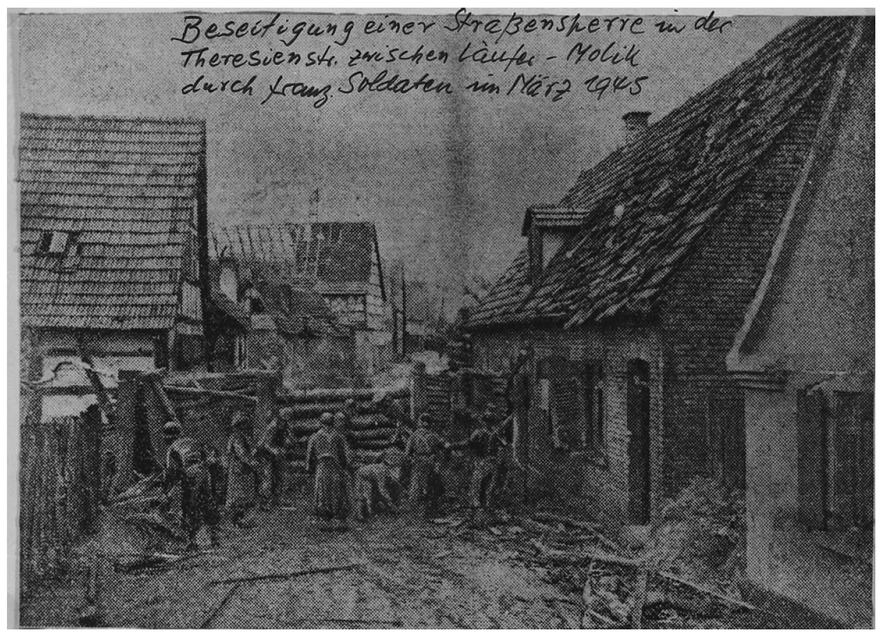 Destruction in Berg during World War II
