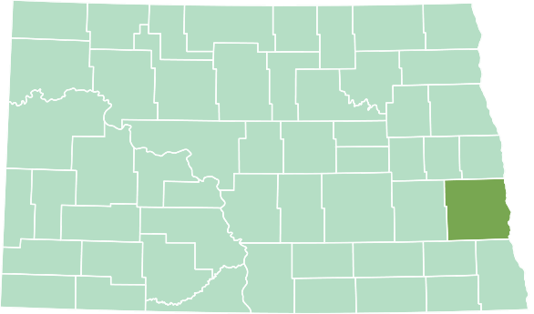 Location of Cass County in North Dakota