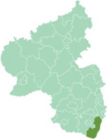 Location of Kreis Germersheim in modern Rheinland-Pfalz
