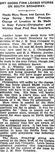 Story from Los Angeles Times, Nov. 5, 1906