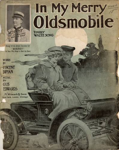 "Cover of sheet music to ""In My Merry Oldsmobile,"" 1905"