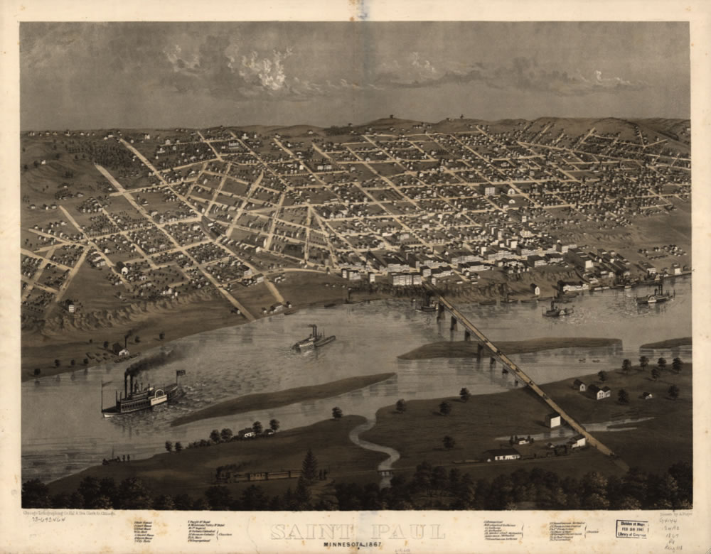 View of Saint Paul, 1867