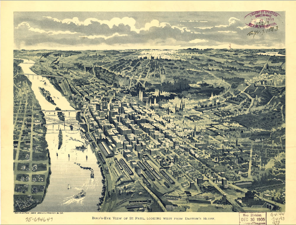 View of Saint Paul, 1893