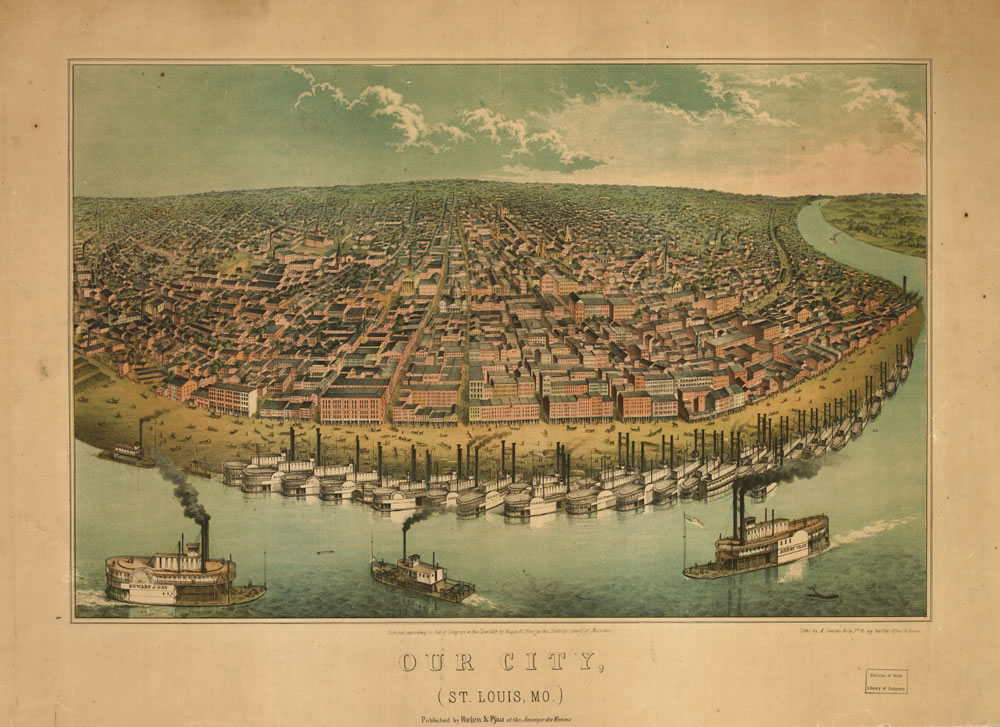 View of St. Louis, 1849