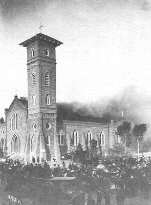 Destruction of St. Joseph Church, San Diego, 1913