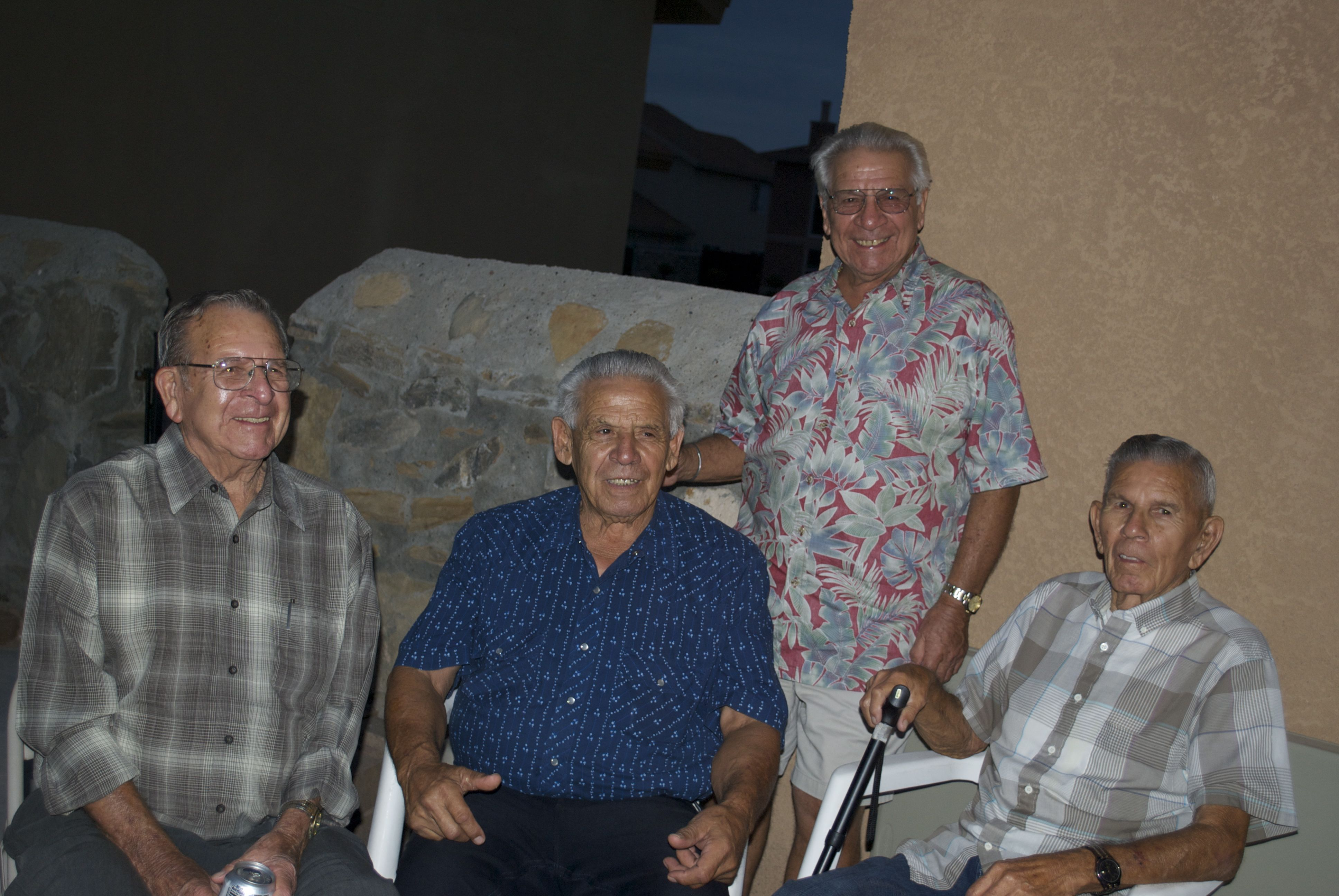 Peter, Roy, George and Louie Stoltz, El Paso, 2013