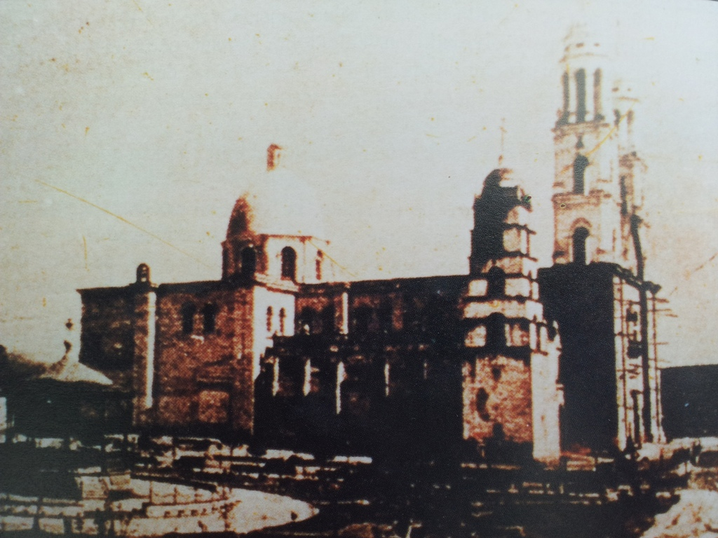 New Culiacán cathedral (1885) with old cathedral still standing