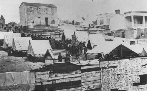 Union army encamped in Chattanooga