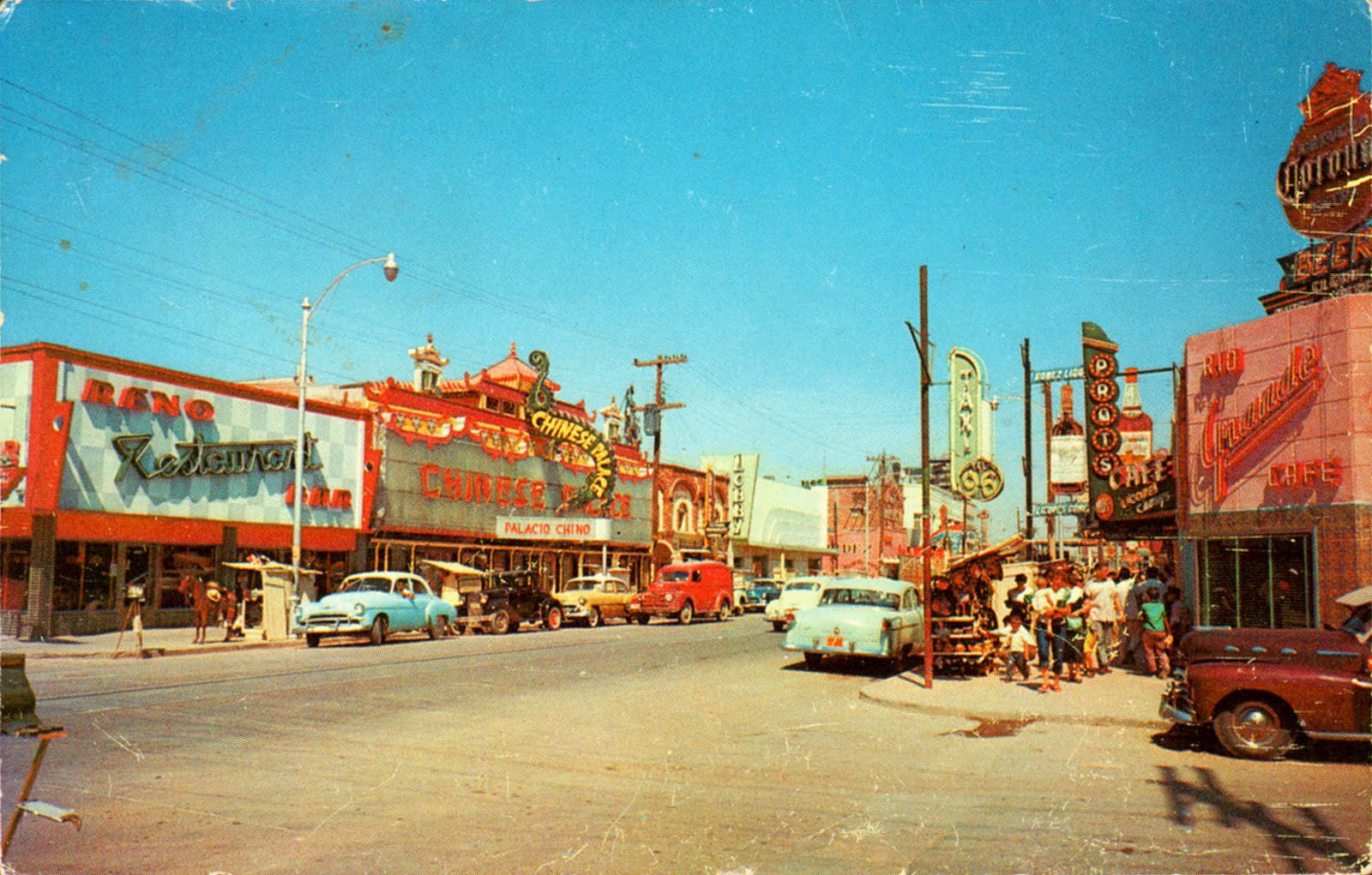 Juárez Avenue, Juárez, in the 1950s