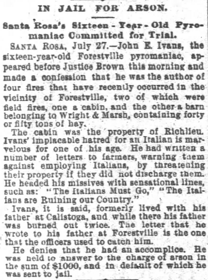 San Francisco Chronicle, Thursday, July 28, 1892