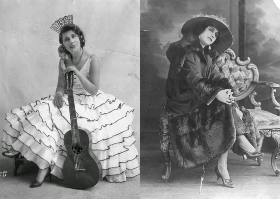 Two silent-era publicity photos of Jovita Garcia Higgins