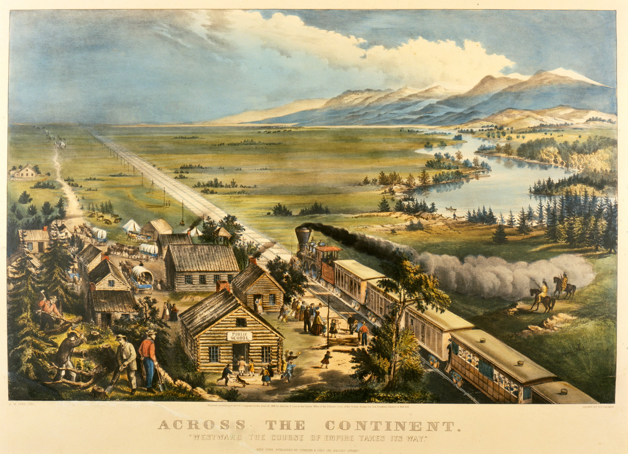 Across the Continent, Lithograph, Frances F. Palmer, 1869.
