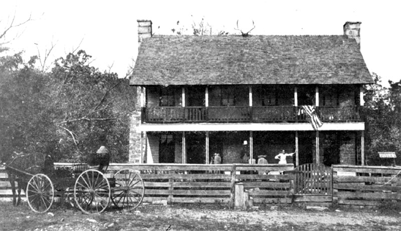 Elkhorn tavern, near Pea Ridge (Benton County), site of one of the most important Civil War battles in the state; July 1907. Courtesy of the Shiloh Museum of Ozark History/Bob Besom Collection (S-82-170-51)