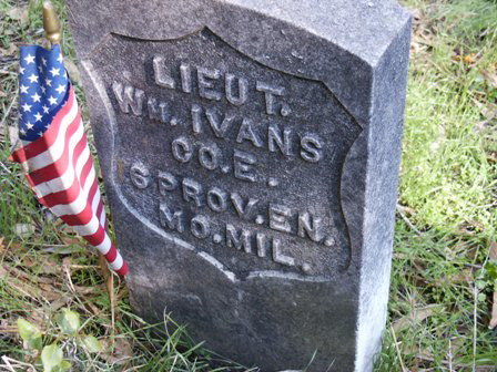 Grave Marker of William Ivans in Santa Rosa Rural Cemetery