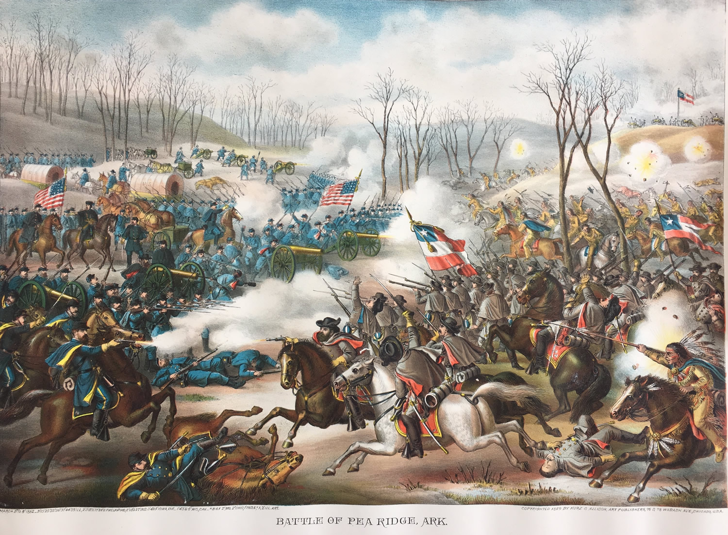 Battle of Pea Ridge, Arkansas by Kurz and Allison, late 1800s, Collection of Eric Stoltz