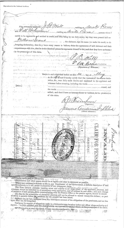 William Ivans pension document 1b