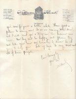 3 November 1922 Letter of Willard Wood to Love Donaldson