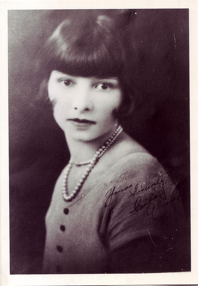 Ceclia María (Alvarado) Hernandez Kirkman (1909-2008), ca. 1927