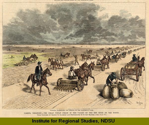Plowing on the Dalrymple Farm, Dakota Territory