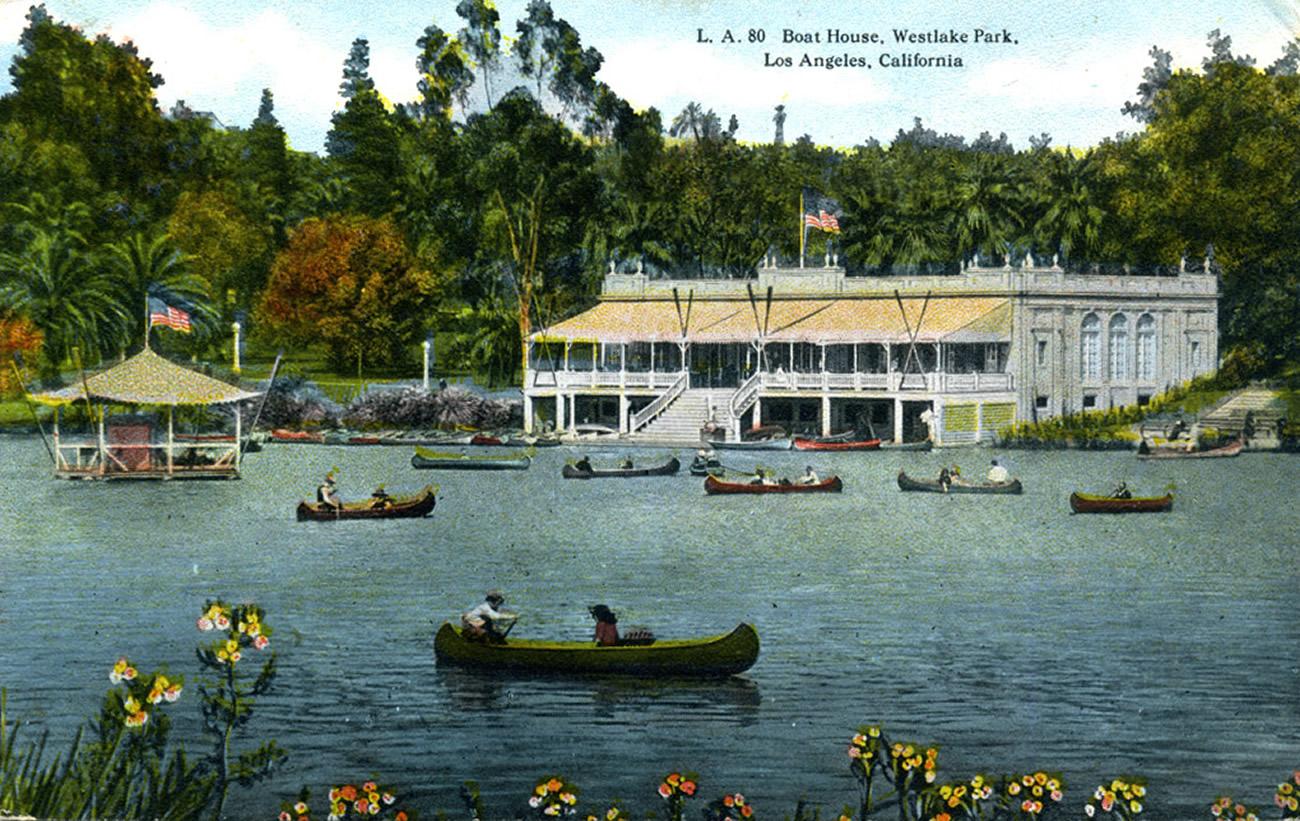 Boat House, Westlake Park, Los Angeles