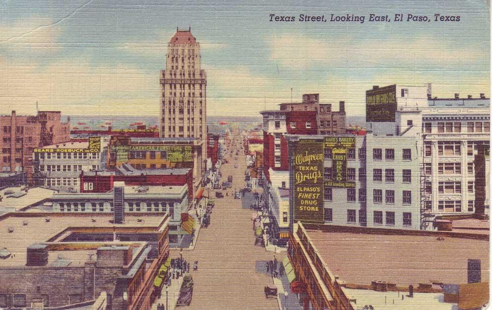 Texas Street, looking east, El Paso